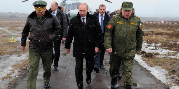Vladimir Putin, Sergei Shoigu, Anatoly Sidorov