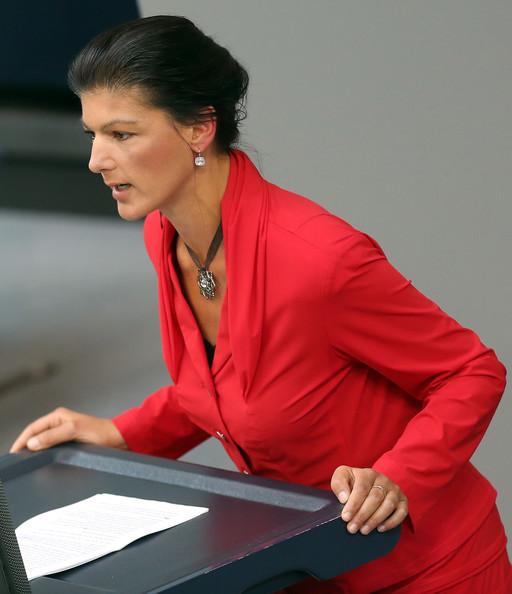 Sahra+Wagenknecht+Angela+Merkel+Gives+Government+hC3rK2nSJDxl