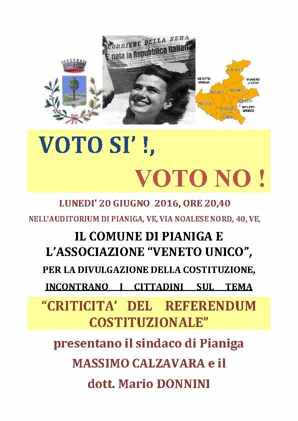 VOTA SI VOTO NO !