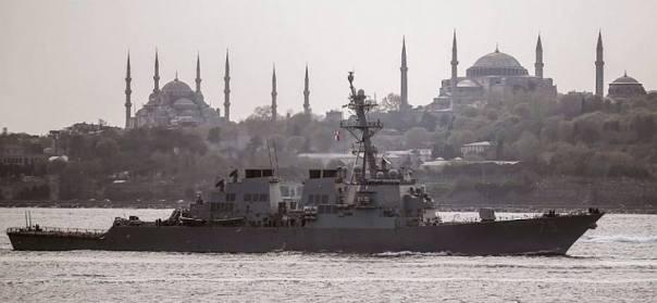 USS Donald Cook DDG 75 in the Bosporus Straits, Turkey