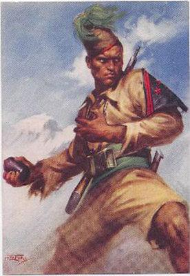 rara-cartolina-militare-soldato-coloniale-allassalto-viaggiata