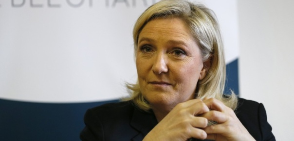 FRANCE-POLITICS-LE PEN-PRESSER