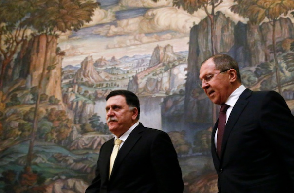 Russian Foreign Minister Lavrov meets with Libyan Prime Minister Seraj in Moscow