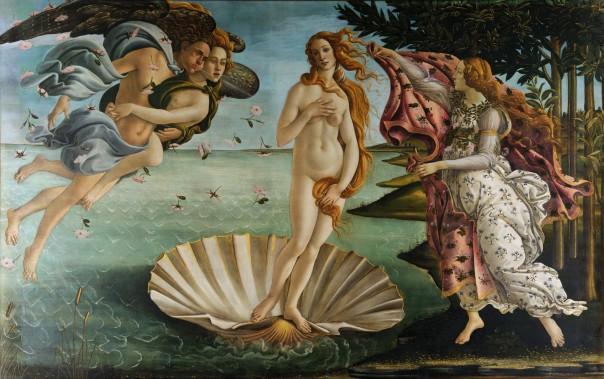 Живопись_Сандро-Боттичелли_Рождение-Венеры-около-1485