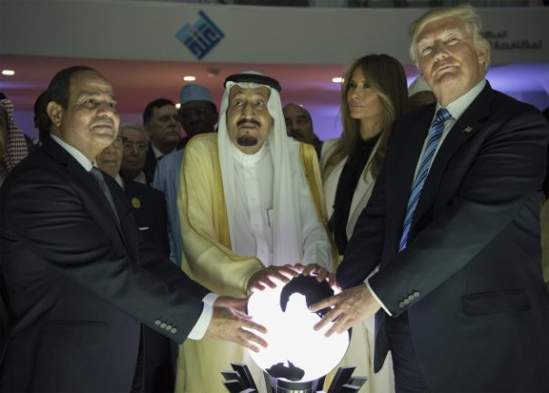 president-donald-trump-us-first-lady-melania-trump-saudi-arabias-king-picture-id686580132