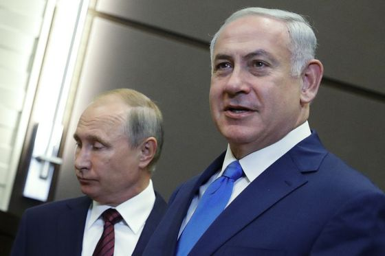 Russia President Putin meets with Israel Prime Minister Netanyahu in Sochi